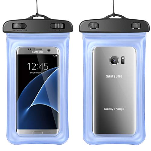 Floatable Waterproof Phone Pouch Dry Bags With Lanyard For Samsung Galaxy Note 9 Note 8, S10 Plus S9 Plus S8 Plus, J8 J7 Prime J7 Pro J7 Duo, Google Pixel 3a XL Pixel 3 XL 2 XL, LG V50 V40 ThinQ G8 G7