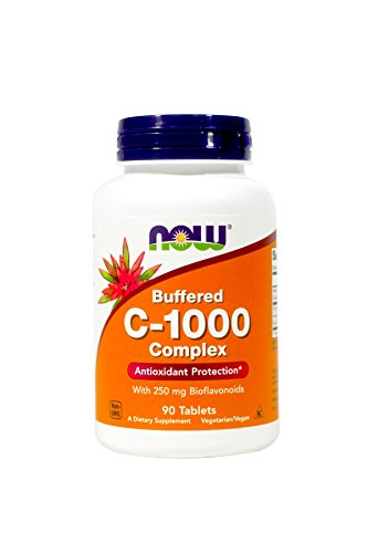 - NOW C-1000 Antioxidant Protection Buffered C 1000mg, 90 Tablets (Pack of 2)