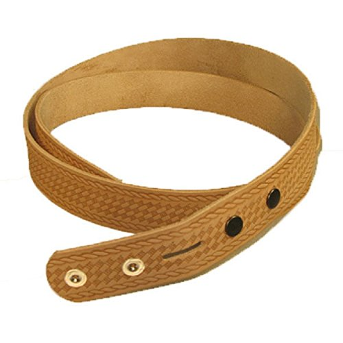 Embossed Basketweave Belt Blank 1-1/2