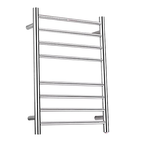 SHARNDY Electric Towel Warmer Rack Brushed Nickel ETW44 Stainless Steel 4+4 Heated Bars Towel Drying Rack Heated UL Certificate ... ()