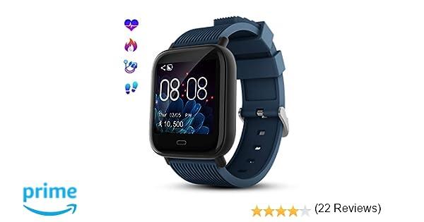Smartwatch Deporte Mujer Hombre Impermeable Reloj Inteligente con ...