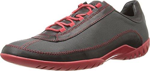 Donald J Pliner Men's Farr Black/Pewter Baby Calf Sneaker 8.5 M