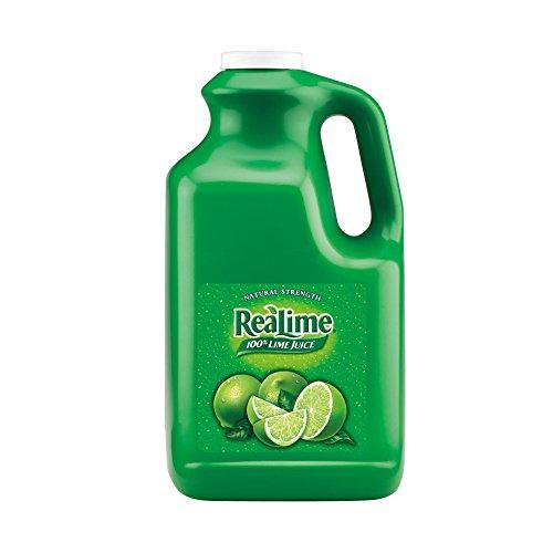 ReaLime 100% Lime Juice, 1 gal bottles (Pack of 4)