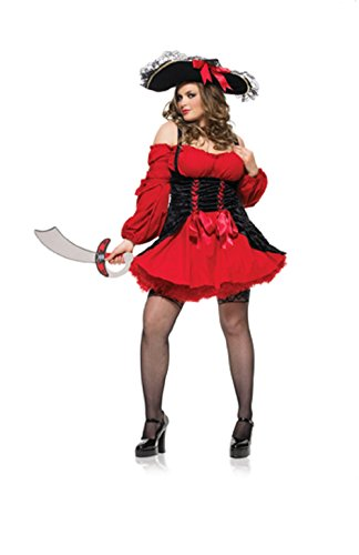 - Vixen Pirate Wench Adult Costume - Plus Size 3X/4X