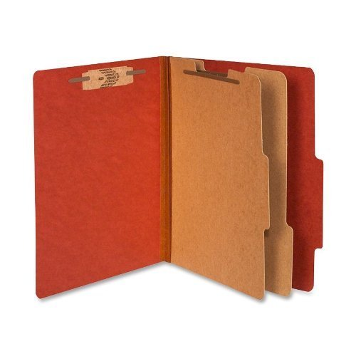 Acco Pressboard 25-Point Classification Folder, Letter, 6-Section, Earth Red, 10/bx - Pack of 2 Boxes (20 Folders) by ACCO Brands