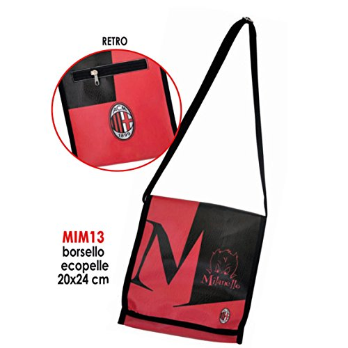 Giemme Artikel–Tasche Kunstleder 20x 24cm Linea milanello Milan Offizielles Geschenk