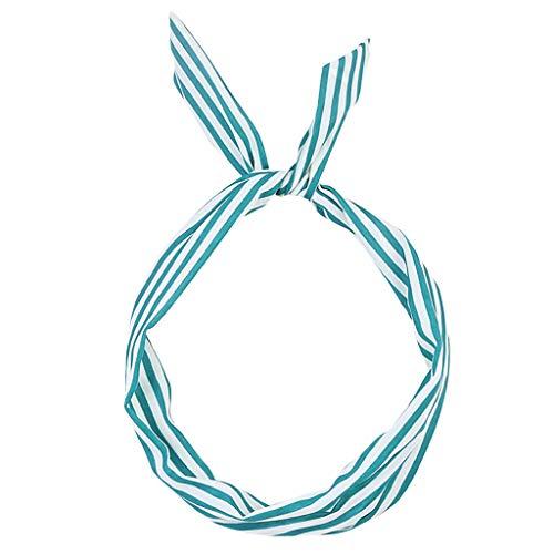 Headband Retro Scarf Wire Hair Band Paisley Rockabilly Wired Headband Polka Dot Tartan ()