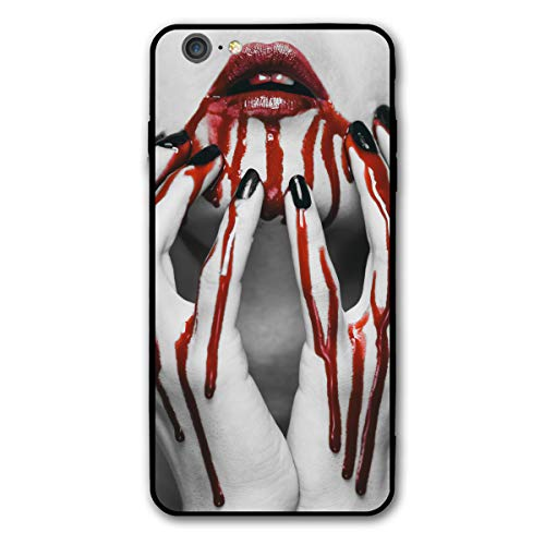 Halloween Vampire Blood Evil Fear Girl Lip Mouth Red Teeth iPhone 6splus 6 6s Plus 6plus Theme Cover Decorative Mobile Accessories Ultra Thin Lightweight Shell Pattern Printed -