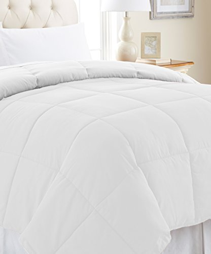 Comforter Duvet Insert White - Down Alternative Comforter, Hypoallergenic, Plush Siliconized Fiberfill, Box Stitched, Protects Against Du (Full/Queen 88-by-88 inch, White) (Hypoallergenic Duvet Insert Queen compare prices)
