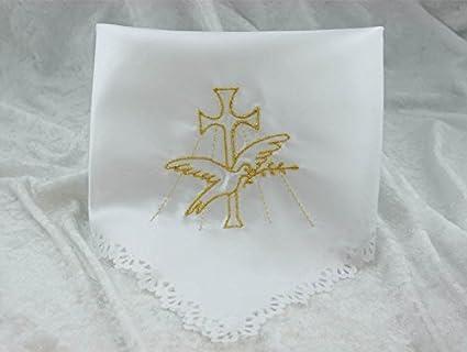 Sutil patrón con forma de velas colour dorado bordado satén paño para