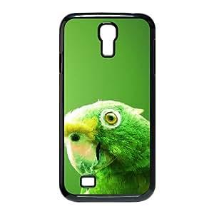 Samsung Galaxy S4 Cases Green Parrot, [Black]