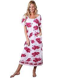 Ingear Beach Summer Shift Dress Long Cotton Tee Dress Cover Up