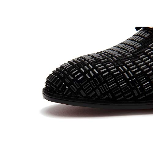 jingyibest Men Formal Dress Rhinestone Evening Shoes Slip on Loafers Casual Prom Wedding Party Leather Shoes