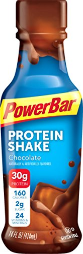 PowerBar Ready to Drink 30g Protein Shakes, Chocolate, 14 Fluid Ounce (Pack of 12)