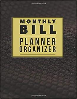 monthly bill planner organizer elegance design budget book monthly