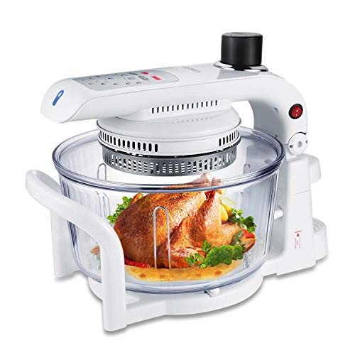 Toast Oven Convection Oven Air Fryer Oil Free XL Electric Countertop Ovens Air Frier, White, 18QT…