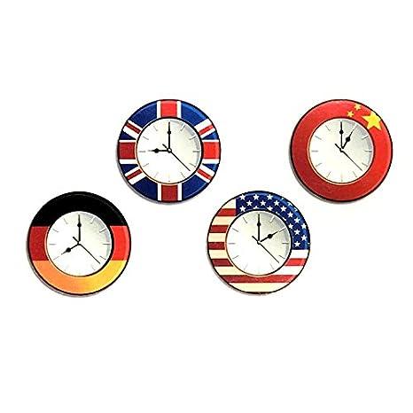 Oottati Pequeño Lindo Tatuaje Temporal Reloj Mundial (2 Hojas ...