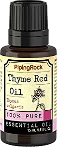 Piping Rock Thyme Red 100% Pure Essential Oil 1/2 oz (15 ml) Dropper Bottle Thymus Vulgaris Therapeutic Grade