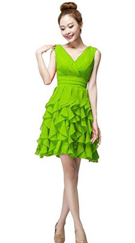 Mujer Verde Vestido Para Vimans Trapecio txqY1UOw