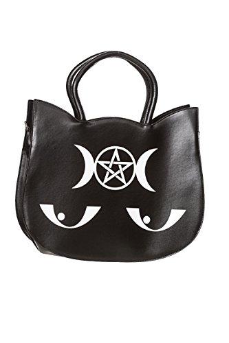 Banned Main Noir Chat Sac Wishbone Occulte A noir De Yeux Imprimé TZrTwpq