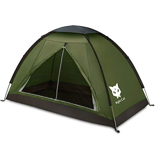 Night Cat Backpacking Tent for One Person Waterproof Single Layer