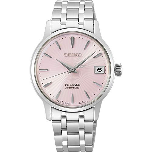 SEIKO PRESAGE Automatic Ladies Cocktail 'Pink Lady' Steel Watch SRP839J1