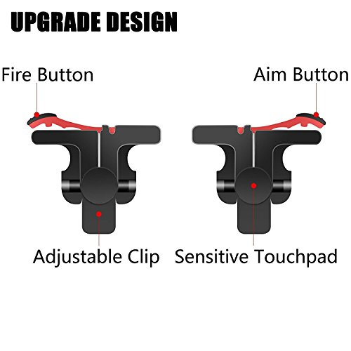 Mobile Game Controller [Upgrade Version] - WeeDee Fortnite PUBG Mobile Controller with Gaming Trigger,Gaming Grip and Gaming Joysticks for 4.5-6.5inch Android iOS Phones by WeeDee (Image #2)