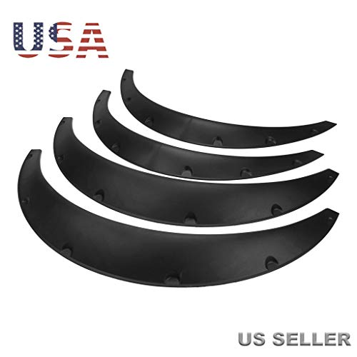 - Ljnuanrg 4X Black Universal Fender Flares,Flexible Durable Polyurethane Auto Car Body Kit,Auto Modified Wide Body Wheel Eyebrow Car Off-Road Vehicle Fender (Black)