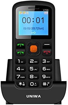 UNIWA V708 - Teléfono móvil para Ancianos, Pantalla de 1,77 ...