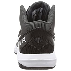 NIKE Men's The Air Overplay IX Basketball Shoe Black/Anthracite/Dark Grey/White Size 8 M US