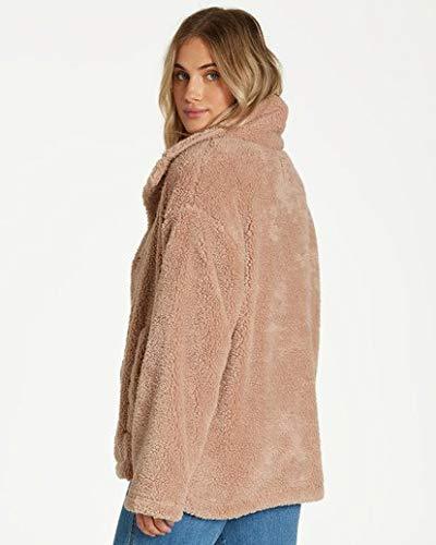 Billabong Women's Cozy Days Sherpa Jacket Beige Large