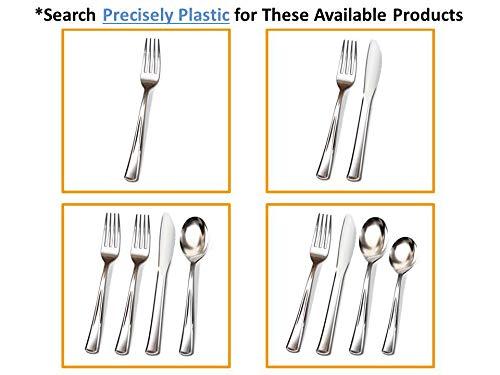 Buy silver plastic cutlery 300