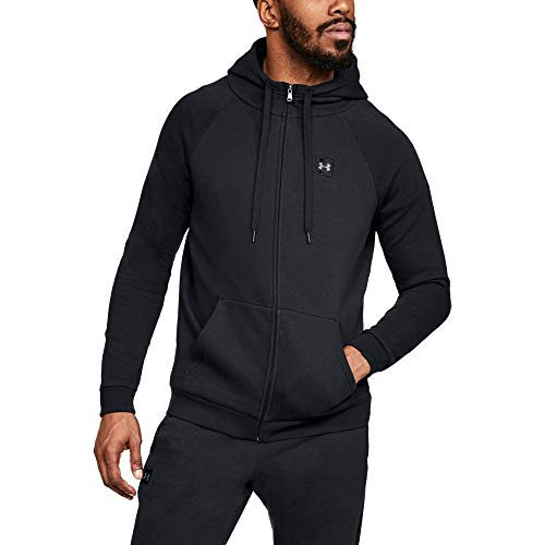 (Under Armour Men's Rival Fleece Full-zip, Black (001)/Black, X-Large)