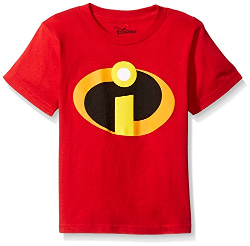 Disney Little Boys' the Incredibles Logo Costume T-Shirt, Red, 7 -