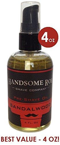 Sandalwood Pre Shave Oil - 4oz! By Handsome Rob Shave Co. from Handsome Rob Shave Company