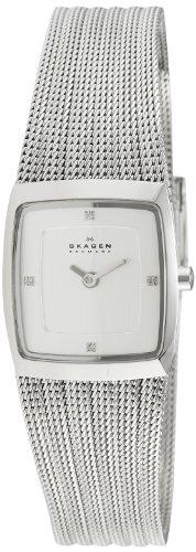 Skagen Women's 380XSSS1 Trine Quartz 2 Hand Stainless Steel Silver Watch