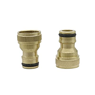 BSNOVT 1/2'' Female Copper Nipper Quick Connectors Greenhouse Garden Thread Tap/Faucet Connect Irrigation Durable Joint 20 Pcs