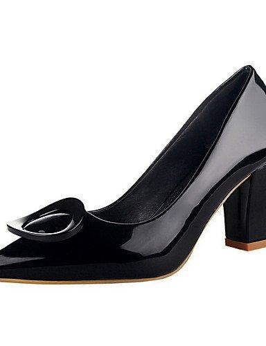 GGX/Damen Pull auf Patent Leder Spitz geschlossen Zehen High Heels Massiv pumps-shoes black-us8 / eu39 / uk6 / cn39