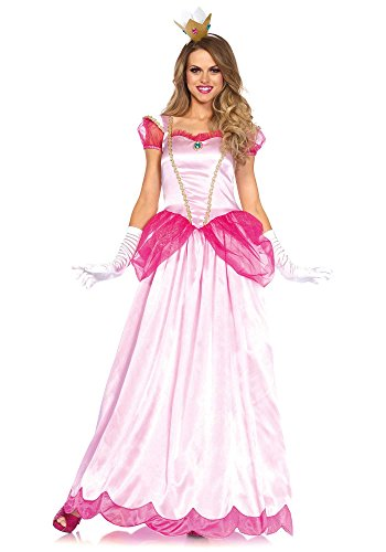[Leg Avenue Women's 2 Piece Classic Pink Princess Costume, Pink, Medium] (Pink Sexy Costumes)