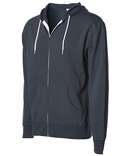 Global Blank Slim Fit Lightweight Zip Up Hoodie for Men and Women M Slate Blue
