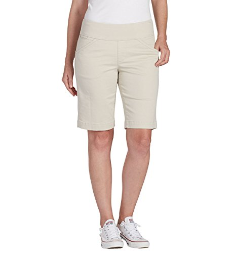 Jag Jeans Women's Petite Ainsley Pull on Bermuda Short, Stone, 8P ()