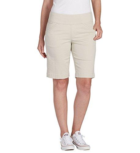 Jag Jeans Women's Petite Ainsley Pull on Bermuda Short, Stone, 8P