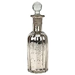 Stonebriar Antique Mercury Glass Bottle with Stopper