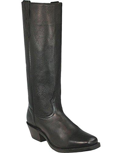 Boulet 4002 Zwarte Mannen Lange Voorbeeldige Western Rijlaarzen Westerse Laarzen Zwart