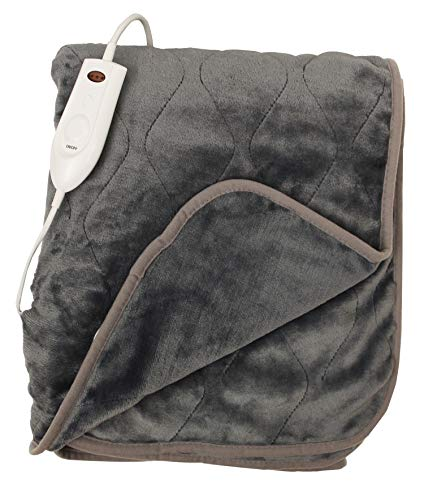 Sam Salem & Son Plush Soft Quilted Secure Comfort Technology Electronic Heated Throw Blanket 51