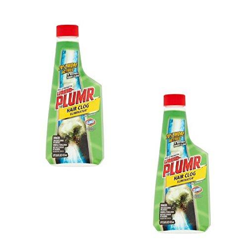 Liquid-Plumr Pro-Strength Clog Remover, Hair Clog Eliminator, 16 Fluid Ounces (2 Pack) by Liquid Plumbr