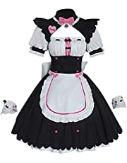 Cosplay Costume Halloween Masquerade Nekopara Chocolate Anime Maid Apron Dress Suits for Anime exhibition Uniform Suits Christmas party Cute Skirt Suit