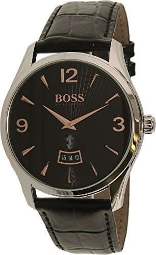 Hugo Boss Men's 1513425 Silver Leather Quartz Watch (Hugo Leather)