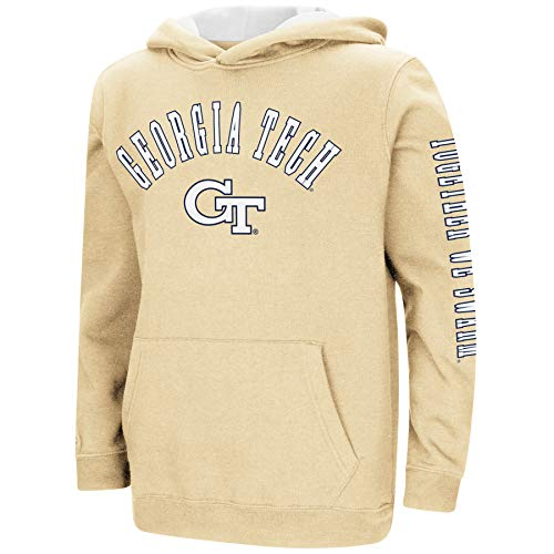 (Colosseum NCAA Youth Boys-Crunch Time-Hoody Pullover-Georgia Tech Yellow Jackets-Old Gold-Youth Large)