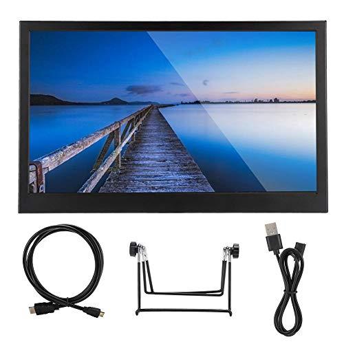 Draagbare monitor, ultradun, 15,6 inch (39,6 cm), 1080p IPS Full HD, 170° groothoek, dubbele HDMI-ingang, geïntegreerde…